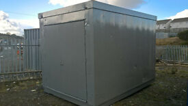 PORTABLE CABIN-12ft STEEL SHIPPING CONTAINER-STORAGE-QUAD-WORKSHOP
