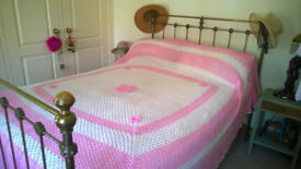 Crochet granny bed cover