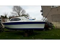16ft fishing boat with 40hp mariner outboard