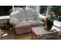 Two Seater Sofa with extendable foot stool