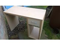 Desk with drawer and lower shelf