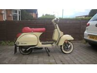 VESPA PX125 WITH 11 MONTHS MOT / CLEAN AND TIDY CONDITION WITH LOW MILEAGE / SPARE SEAT & 2 HELMETS