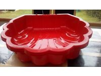 Sand Pit And Water Shell 2 Pieces With Separate Lids Blue, orange or red colours