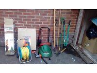 Various garden tools.