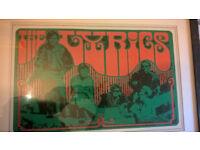 LYRICS * ORIGINAL 1967 FRAMED POSTER * Legendary Garage band poster by Graphic designer Bob Wendel
