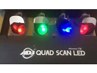 American DJ Quad Scan LED 4 Head Tri Colour Scanner/Disco party lights