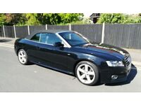 AUDI A5 BLACK CONVERTIBLE S LINE- 6 SPEED - 2.0 TFSI - 40K MILES - 2009 - PRIVATE SALE