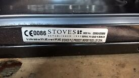 Stoves 4 Ring Double Oven Slot in Gas Cooker