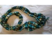 Blue and yellow light scarf