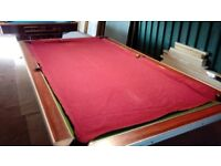 Pool or snooker cloth in red for 8 x 4 ft table