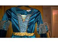 Disneystore Merida dress size 7-8 with cape
