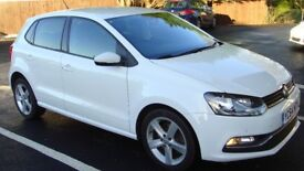 VW Polo 1.2 TSI BlueMotion Tech SEL Hatch 5dr (start/stop) 64 reg, white, 1 owner, only 27800 miles
