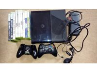 Xbox 360 bundle with console, controllers, headset and games