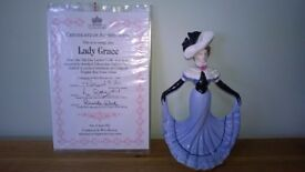 Compton & Woodhouse Coalport Bone China CW1 Lady Grace figurine (with certificate of authenticity)