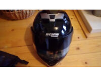 Nolan Italian motorbike helmet, waterproof bag, waterproof map bag, belt for motorcycling