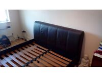 King Sized Faux Leather Bed Frame