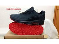 nike air max 90 hyperfuse VT grey and red suede ,size 8.5 10 BNIB RECORDED Delivery