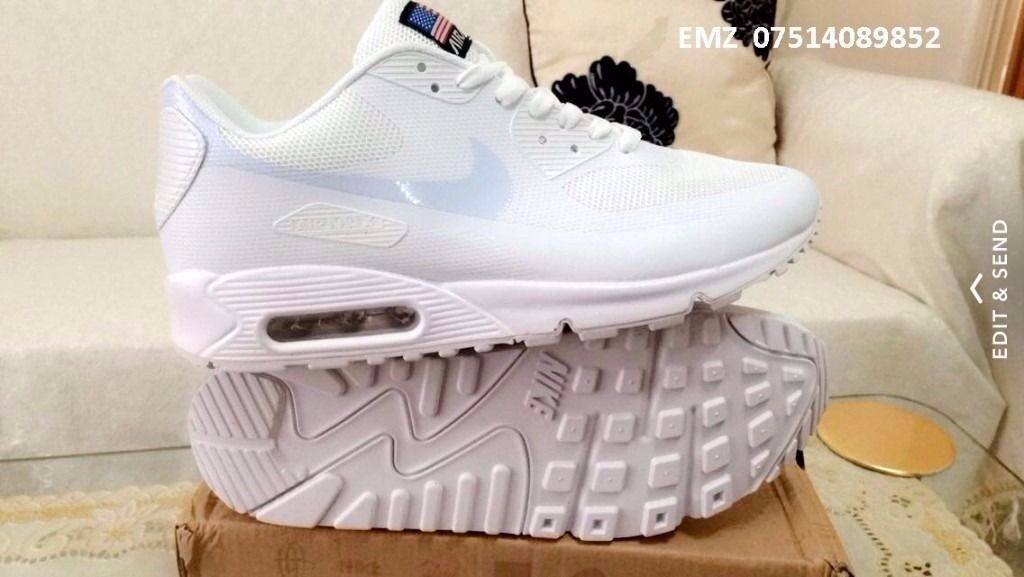 nike air max 90 hyperfuse red , white , black independance day all sizes inc delivery paypal