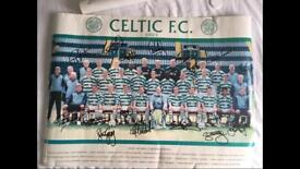 Signed Celtic 2002/3 poster