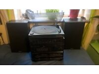 Vinyl record player, music system, great sound quality