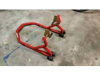 Front Motorbike Track Stand/Jack Axle