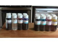 4 sets of 4 refill ink bottles for Epson R800 Continuous Ink System