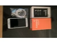mobile phone Samsung Galaxy j5 as new white with box charger earphones never used