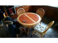 Extending Kitchen table and 6 chairs
