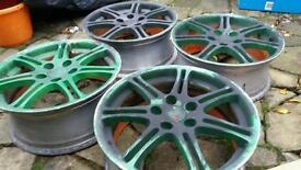 "Genuine Honda Civic Type R Enkei 17"" alloy wheels 5x114.3"