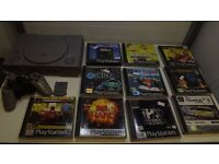 Playstation 1 console plus 10 great games 1 controller and 1 mem card GWO 1 months warranty
