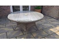 Maze Rattan 'Winchester' Garden Table 6 Seater NEW boxed
