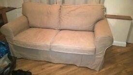 2 seater sofa (Beige fabric)