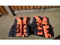 2 x life jackets, dolphin