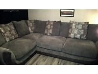 IMMACULATE CONDITION 8 MONTH OLD GREY CORNER SOFA