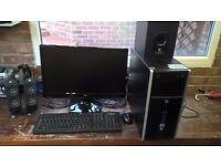 "HP 8200 Elite Tower PC + Iiyama Prolite E2273HDS 22"" Monitor + Logitec Speakers"