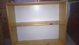 Flexabed shelf unit, pine. 87cm wide, 74cm tall, 30cm deep