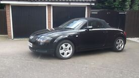 Reluctant sale of my Black Audi TT Roadster,185 BHP with full service history