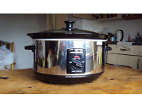 Used Morphy Richards Oval Stainless Steel Slow Cooker 3.5L