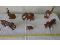 Collection of Carved Wooden Animals - ALL for £8