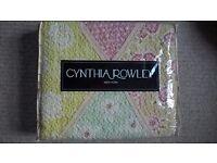 Two single Cynthia Rowley bed throws