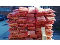 KINDLING Fire STOVE wood DRY 100 Netted per pallet Seasoned Pine + Soft woods individual Netted