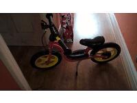kids Balance bike German quality with brake and side stand used retail £70