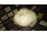Women's hat, natural fur