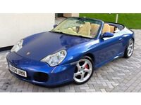 Porsche 911 C4S 3.6 Convertible (996) 4WD 2004 Manual Cobalt blue Cream Leather