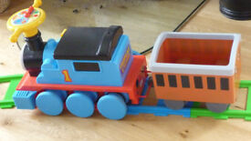 Thomas & Friends Kids Toddlers Ride On Train with Charger and 22 Piece Track