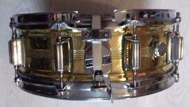 Rogers snare drum vintage brass