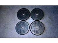 4 x 5kg York Cast Iron Weight Plates