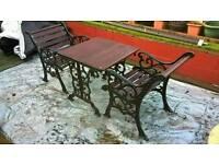 Cast iron garden bistro set