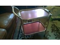 Service / Hostess Trolley And REMOVABLE Tray Nice handy around house & BBQ s