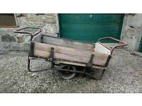 Vintage railway trolley
